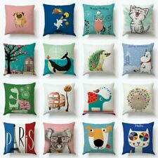 Cotton Linen Square Pillow Case Throw Pillow Cushion Cover Valentine's Day Gift