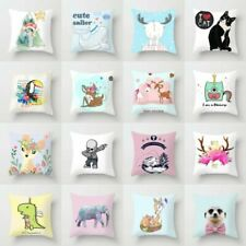 18'' Polyester Cute Animal Pillow Case Sofa Waist Throw Cushion Cover Home Decor