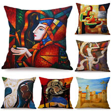 Art Ethnic Cotton Linen Pillow Case Sofa Waist Throw Cushion Cover Home Decor