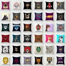 18'' Punk Skull Polyester Pillow Case Sofa Waist Throw Cushion Cover Home Decor