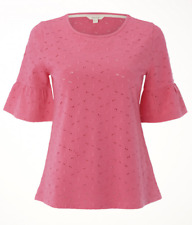 NEW White Stuff Emily Broidery Jersey Hot Pink Tee Pretty Cute RRP £35 Now £16
