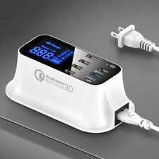 Quick Charge 3.0 Smart USB Type C Charger Station Led Display Fast Charging P...
