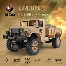 WLtoys 124301 2.4G 1/12 4WD Off-road RC Military Truck Remote Control RC Car us