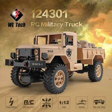 WLtoys 124301 2.4G 1/12 4WD Off-road RC Military Truck Remote Control RC Car av