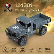 WLtoys 124301 2.4Ghz 1/12 4WD Off-road RC Military Truck Vehicle RC Car dd