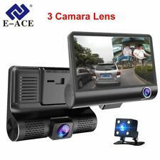 E-ACE Car DVR 3 Cameras Lens 4.0 Inch Dash Camera Dual Lens With Rearview Cam...