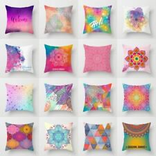 Colorful Ethnic Polyester Throw Waist Pillow Case Cushion Cover Home Sofa Decor