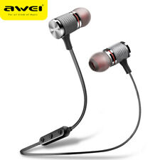 AWEI T12 Blutooth Earphone Wireless Headphones Bluetooth Headset With Mic Aur...