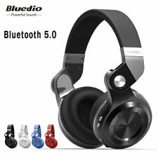 Original Bluedio T2S bluetooth headphones with microphone wireless headset bl...
