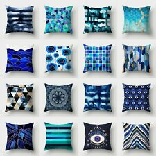 Case Cover Cushion Home Sofa 18'' Pillow Waist Polyester Decor Throw