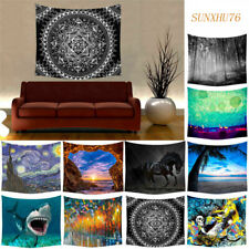 Indian Mandala Oil Art Tapestry Wall Hanging Hippie Beach Towel Home Decor