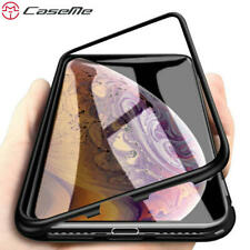CaseMe 360 Magnetic Adsorption Case for iPhone XR XS MAX X 8 7 Plus + Tempere...