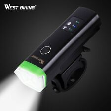 WEST BIKING Bike Front Light Induction Bicycle Bright Light USB Charging Flas...