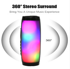 LED Bluetooth Wireless Speaker Portable Waterproof Outdoor Stereo Bass Fm Radio