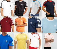 Adidas Originals Mens California Retro Design Tees Trefoil Logo T-Shirt S M L XL