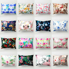 Flower Painting Rectangle Throw Pillow Case Bed Cushion Cover Home Decor Fashion
