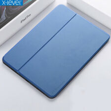 """For iPad Pro 11""""/12.9"""" 2018 X-Level FIBCOLOR Smart Flip Leather Stand Case Cover"""