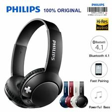 Philips Bluetooth Headset Earphone Wireless Headphones SHB3075 Volume with Mi...
