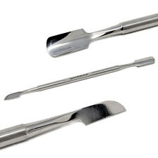 Double-ended Nail Art Cuticle Pusher Remover Tool French Manicure Pedicure Steel
