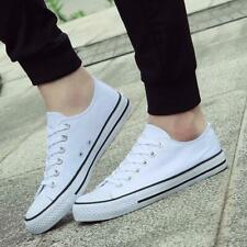 Unisex Canvas Shoes Casual Sports Lace Up Flat Pumps Trainers Low High Top Shoes