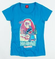 Official Women's Blue Lilo And Stitch Hawaii Surf Club T-Shirt