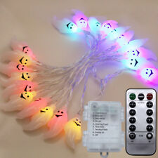Halloween Ghost Remote Control String Lights LED Waterproof Battery Fairy Decor