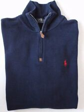 Polo Ralph Lauren Men's Ribbed Mock Neck Classic Sweater 1/2 Zip Pullover M L