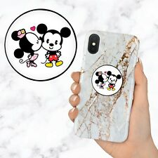 Mickey Minnie Mouse Kiss Disney Kawaii Retractable Phone Grip Ring Holder Stand