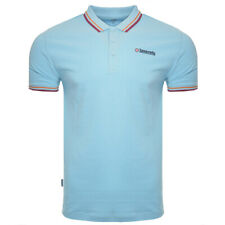 04bc7743 Mens Lambretta Branded Twin Tip Cotton Polo Shirt SS 1608 West Ham - Sky  Blue