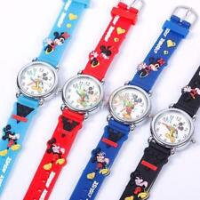 3D Mickey Mouse Cartoon Kid Children Analog Quartz Wrist Watch Rubber Gift UK