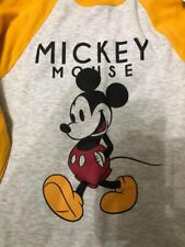 PRIMARK DISNEY MICKEY MOUSE T-SHIRT BNWT ALL SIZES..LONG SLEEVE