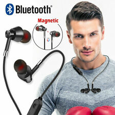 Bluetooth Wireless Earphones In Ear Headset w/ Mic Stereo Sports Gym For Phones