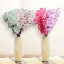 1Pc 3 Branches Artificial Cherry Blossom Flower Bouquet Wedding Home Decor Gifts