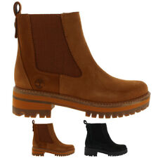 Womens Timberland Courmayeur Valley Winter Pull On Leather Mid Calf Boots UK 3-9