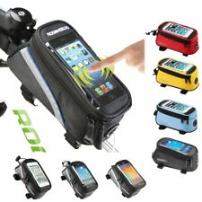 ROSWHEEL BICYCLE BAGS CYCLING BIKE FRAME IPHONE BAGS  HOLDER PANNIER MOBILE P...