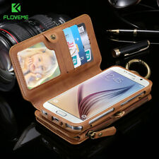 FLOVEME Business Wallet Phone Cases For Samsung Galaxy Note 9 8 4 3 5 Case Me...