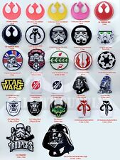 STAR WARS Movies Patches Collection Iron or Sew on Embroidered Patches UK Seller