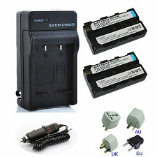 NP-F550 2400mAh Battery / Wall & Car Charger For Sony NP-F550 NP-F570