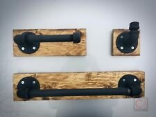 Industrial Bathroom Set of 3 | Unique Rustic Style Home Decor!