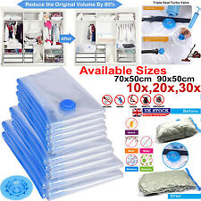 STRONG VACUUM STORAGE SPACE SAVING BAGS VAC BAG SPACE SAVER VACUM BAGS 1/10/20x