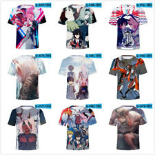 New Fashion Womens/Mens Anime Darling In The Franxx 3D Print Casual T-Shirt USA