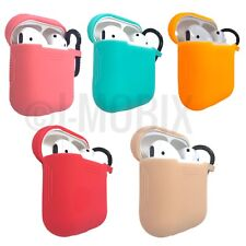 AirPods Silicone Case Cover Protective for Apple Air pod Charging Case W/Clip