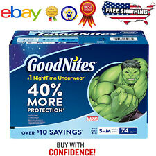 GoodNites Bedtime Underwear for Boys Best Service Fast Free Shipping*