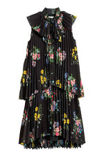 Erdem H&M Floral Pleated A Line Frill Dress With Bow UK 8 10 EU 34 36 BNWT