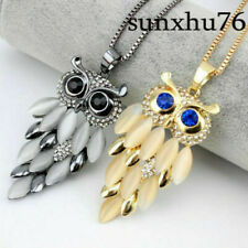 Women's Necklace Sweater Long Rhinestone Gift Owl Fashion Crystal Pendant Chain
