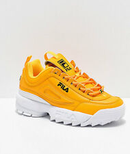 NEW Womens Fila Disruptor II Premium Yellow White Shoes Two 2