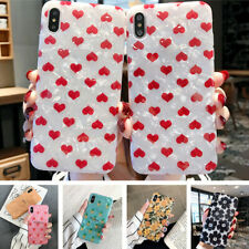 For iPhone Xs Max X 7 8 Plus 6s Heart Fruit Pattern Shell Texture IMD Case Cover