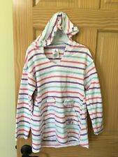 NWT Disney Store Mickey Mouse Stripe swim cover up Hooded Girls