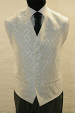 MENS//BOYS TURQUOISE WAVE WAISTCOAT //DRESS// SUIT// PARTY//FORMAL//WEDDING CW25