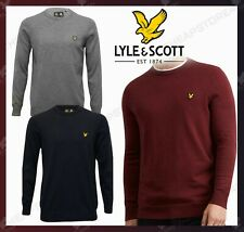 Lyle and Scott Cotton Merino JUMPERS Men Crew Neck Long Sleeves Christmas Gift